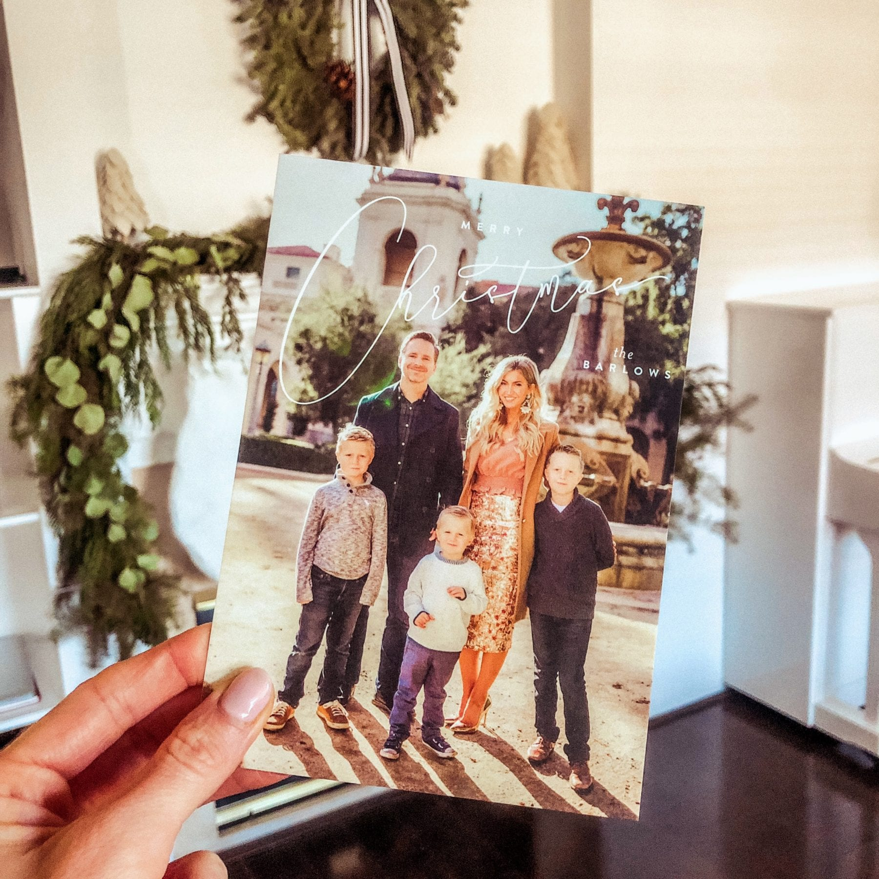 Barlow family Christmas cards 2018 - cards via Minted