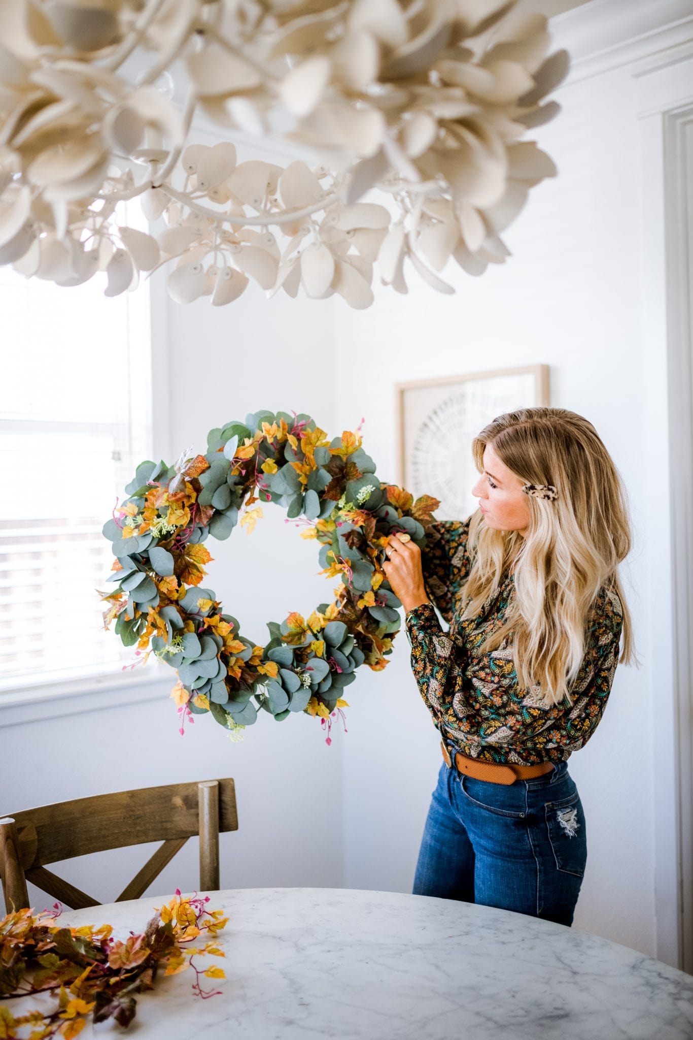 How to create a fall wreath for Halloween