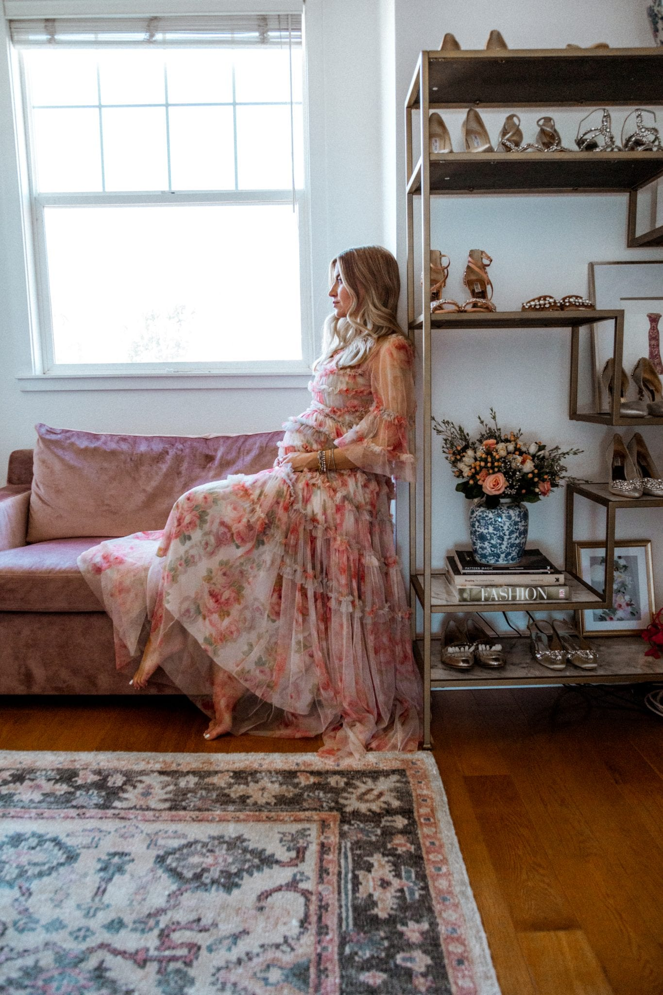 Second Trimester Pregnancy, Needle and Thread Gown