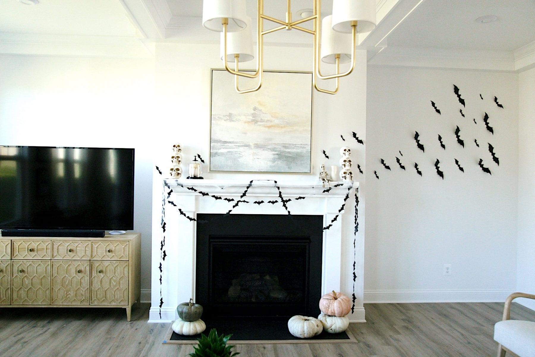 Halloween mantle decorations