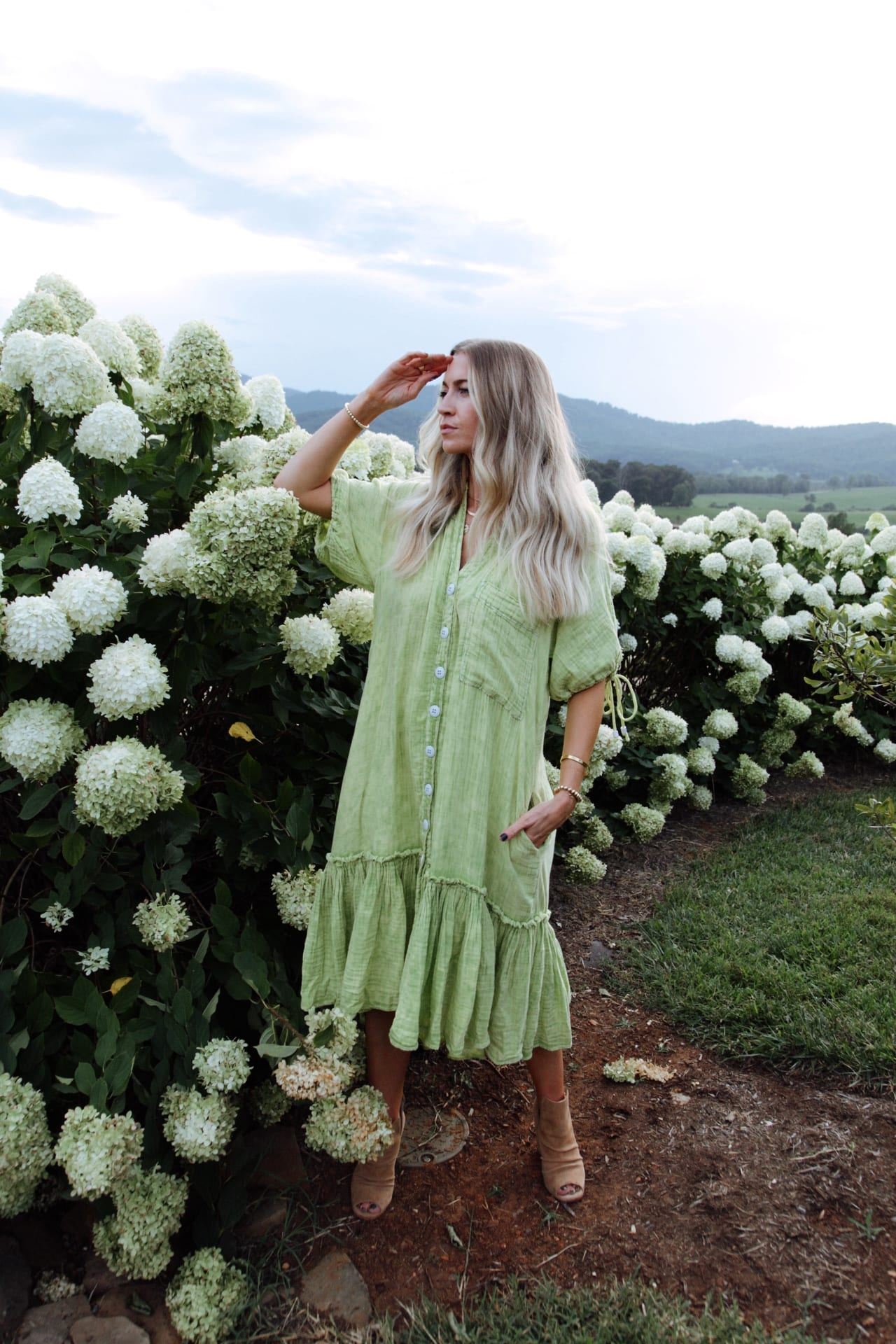 Lime green free people dress on sale